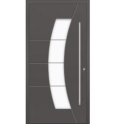 Porte en aluminium PASSIVE ALU G2 90 cm anthracite