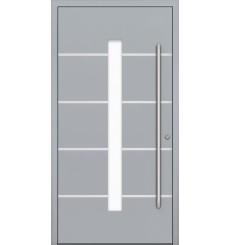 Porte en aluminium PASSIVE ALU G4 90 cm gris
