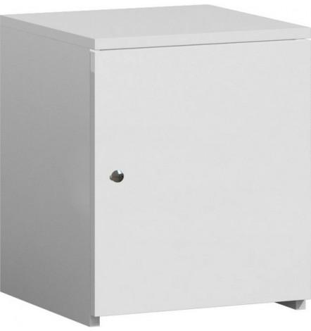 Table de chevet OLIVIA 40x30 cm en blanc