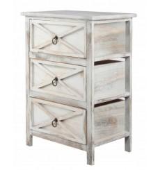 Table de chevet à tiroir en bois MARILYNN 45x60 cm