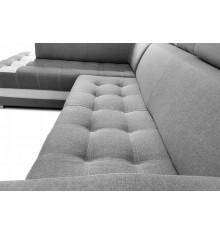 Canapé d'angle convertible Light gris 270x190 cm