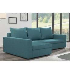 Canapé d'angle convertible réversible MARLO bleu 232 x 140 cm
