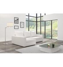 Canapé d'angle convertible MARLO blanc 232 x 140 cm