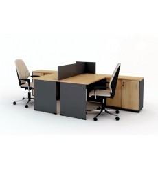Ensemble 2 bureaux et caissons DUNCAN