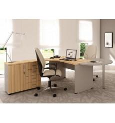 Conjunto de oficinas con extensión y caja KENNETH