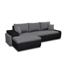 Canapé d'angle convertible CINDY gris foncé 270x160 cm