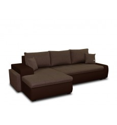 Canapé d'angle convertible CINDY marron 270x160 cm