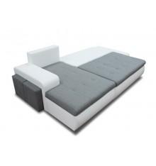 Canapé d'angle convertible CINDY gris 270x160 cm