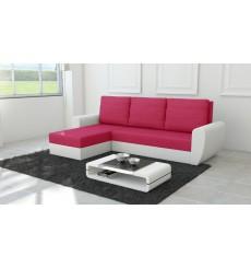 Canapé d'angle convertible réversible Fiesta rouge framboise 250x145 cm
