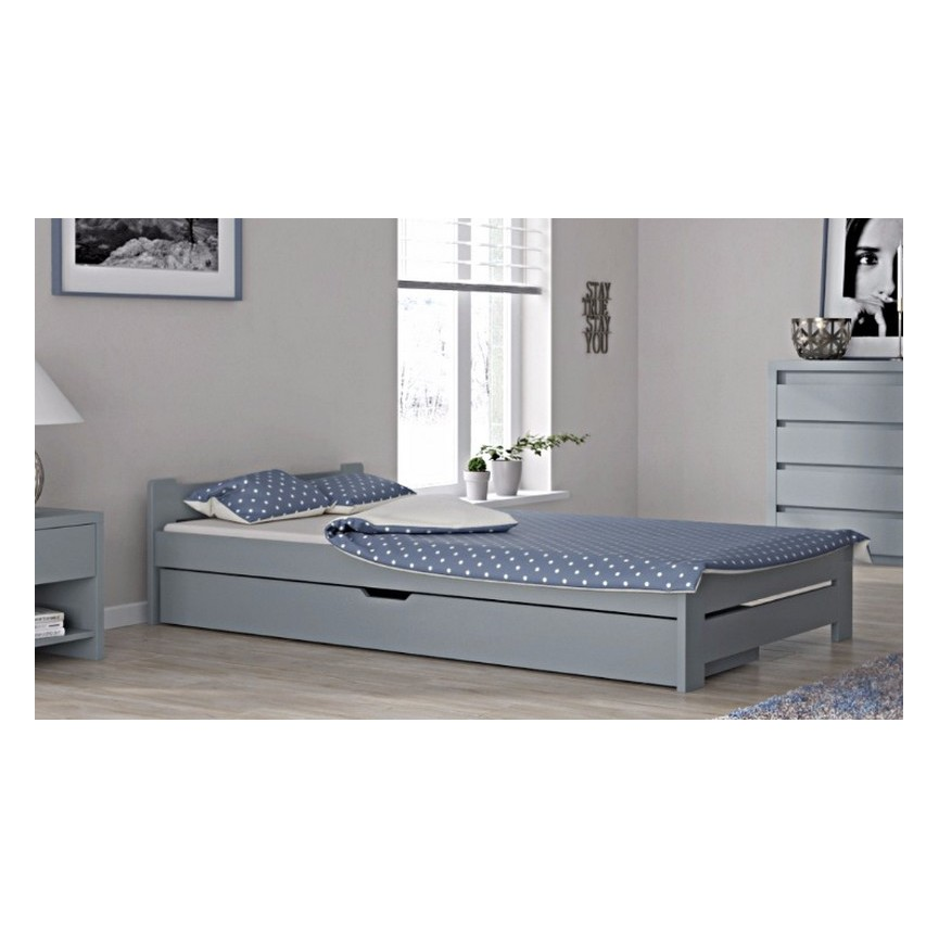Lit en bois avec tiroir de rangement MAHALIA 160x200 cmsur notre boutique en ligne de meuble design