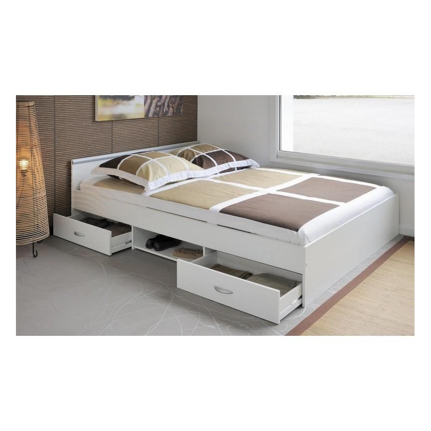 lit avec tiroir de rangement caro 140x200 cmsur notre boutique en ligne de meuble design. Black Bedroom Furniture Sets. Home Design Ideas