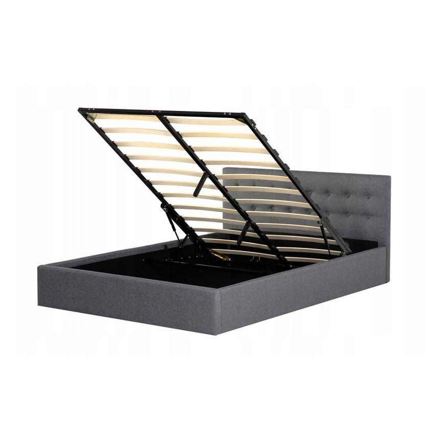 lit avec coffre de rangement steven 160x200 cmsur notre. Black Bedroom Furniture Sets. Home Design Ideas