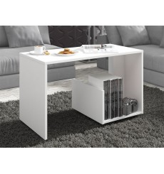 Table basse design PAULA en blanc