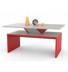 Table basse Bicolore IMATRA rouge
