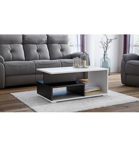 Table basse avec niches AVIDIA noir