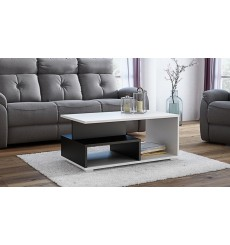 Table basse avec niches AVIDIA noir