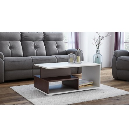Table basse avec niches AVIDIA wengé