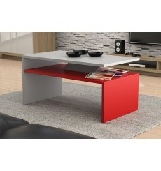 Table basse PRIMA Bicolore   rouge