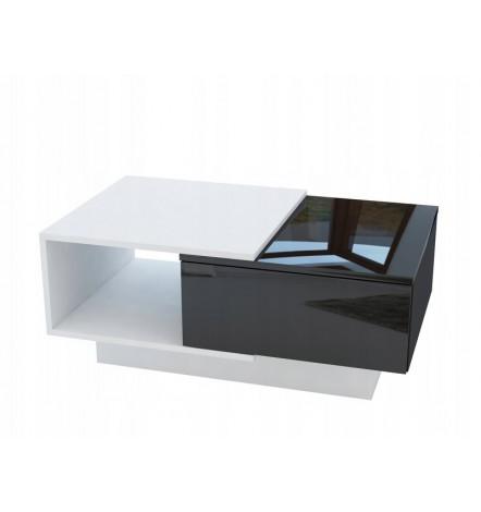 Table basse DIDEM Bicolore avec niche et rangement