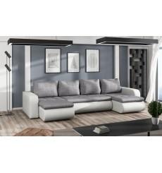 Canapé d'angle convertible réversible BROOKLYN gris 315 x 150 cm
