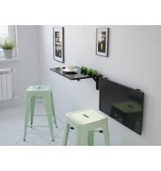 Table pliable noir laqué NEYA 25x60 cm