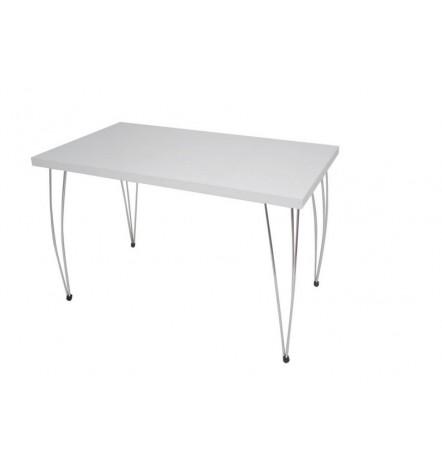 Table à manger NARPES 60x90 cm blanc