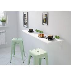 Table pliable blanc laqué NEYA 35x100 cm