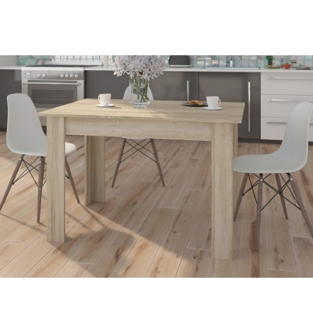 Table à manger PATRAS 120x80 cm en chêne