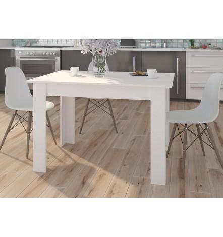 Table à manger PATRAS 120x80 cm en blanc