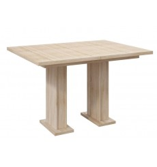 Table à manger extensible 120-160 cm LARISSA chêne