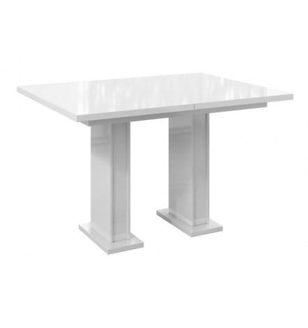 Table à manger extensible 120-160 cm LARISSA blanc laqué