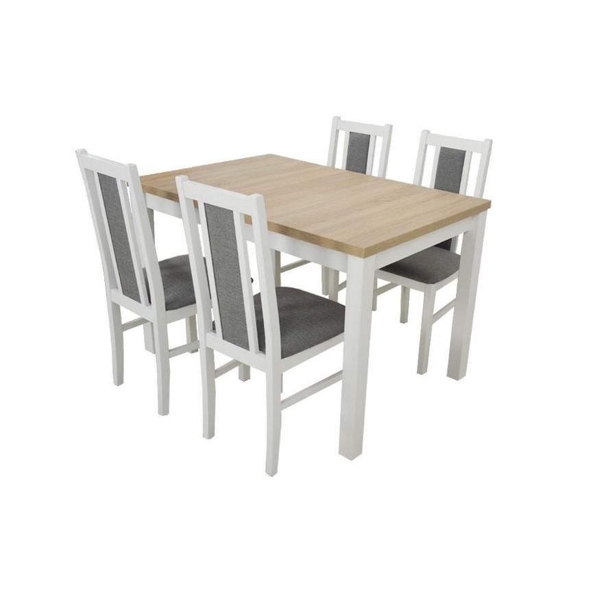 En Et Ensemble Manger À 4 Bois Massif Table Extensible Structure roQCxdBtsh