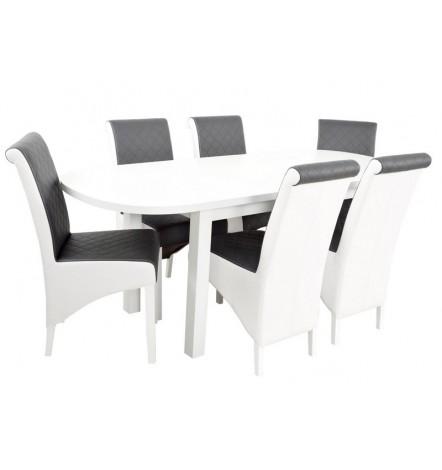 Ensemble Table à manger extensible 160-200 cm et 6 chaises RAFA