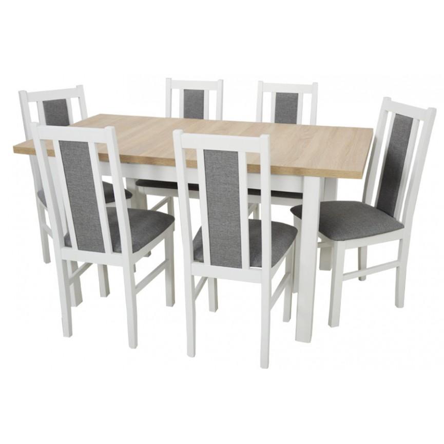 Ensemble Table A Manger Extensible Structure En Bois Massif Et 6