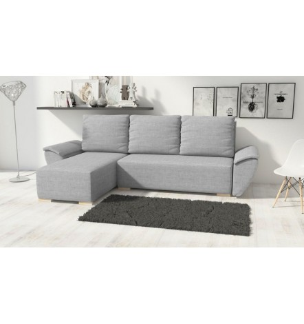 Canapé d'angle convertible BUTTERFLY gris 258x145 cm