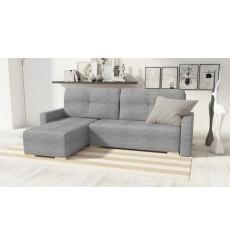 Canapé d'angle convertible réversible Club gris 225x140 cm