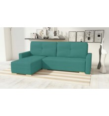 Canapé d'angle convertible Club turquois 225x140 cm