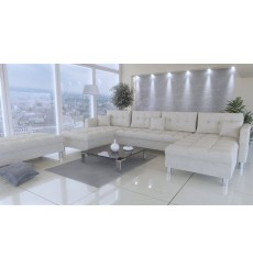 Canapé d'angle réversible PALERMO avec module complémentaire beige 305x164 cm