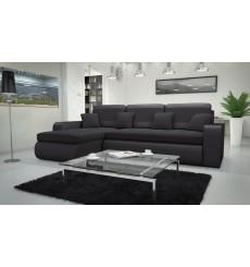 Canapé d'angle convertible réversible CALISTA noir 250x160 cm