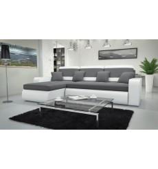 Canapé d'angle convertible réversible CALISTA gris 250x160 cm