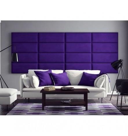 Panneau capitonné pour revêtement mural violet 40x30 cm