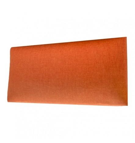 Panneau capitonné pour revêtement mural orange 50x30 cm