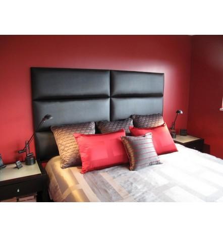 Panneau capitonné pour revêtement mural gris noir 50x30 cm
