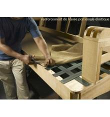 Canapé d'angle convertible BUTTERFLY vert 258x145 cm