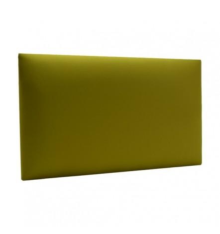 Panneau capitonné pour revêtement mural en simili cuir vert 60x30 cm