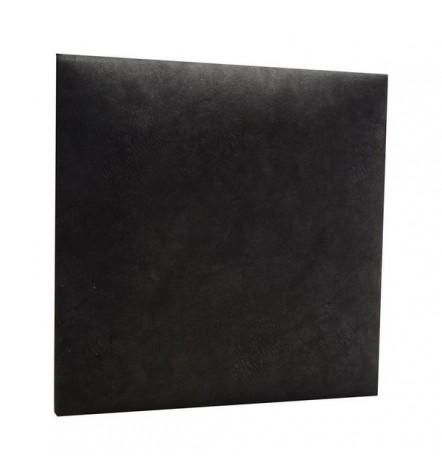 Panneau capitonné pour revêtement mural en simili cuir noir 60x30 cm