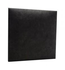 Panneau capitonné pour revêtement mural en simili cuir noir 60x60 cm
