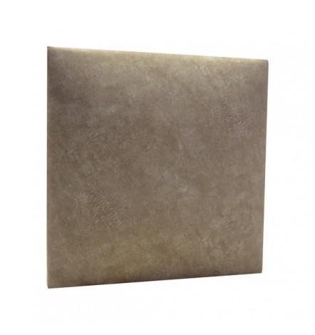 Panneau capitonné pour revêtement mural Taupe simili cuir 40x40 cm