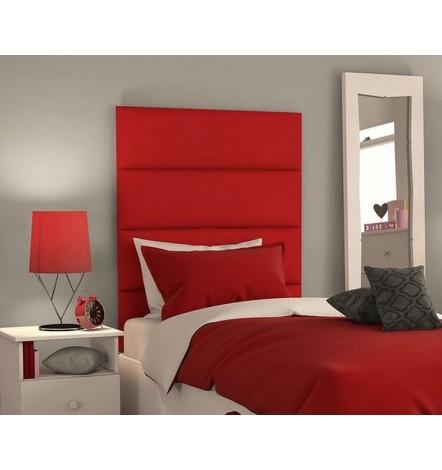 Panneau capitonné pour revêtement mural rouge 80x30 cm