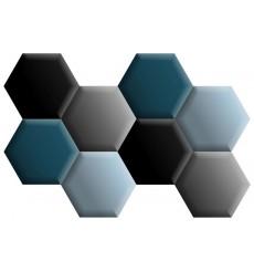Ensemble de 8 panneaux hexagonaux rembourrés 120x86 cm
